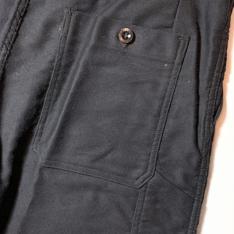 1950's〜 French Unknown Black Moleskin Trousers