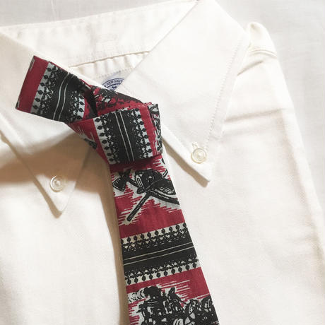 1960's Rooster Cotton Necktie