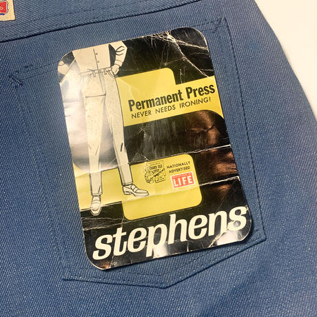 1960's〜 Stephens Stretch Tapered Denim Pants Deadstock