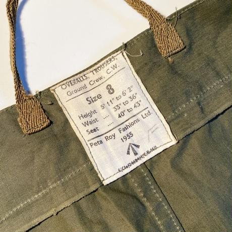 1950's British Army Ground Crew Over Trousers Deadstock