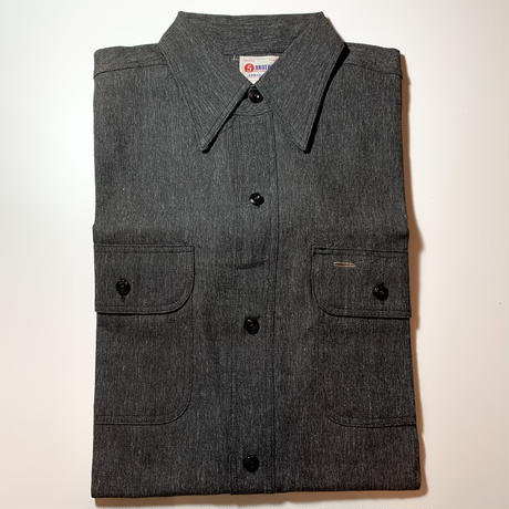 1950's 5 BROTHERS Black Chambray L/S Shirt Deadstock
