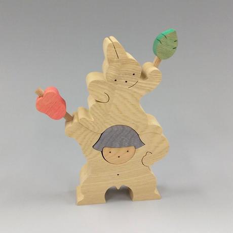 軍配を持つ金太郎とウサギ(大)(21052105)