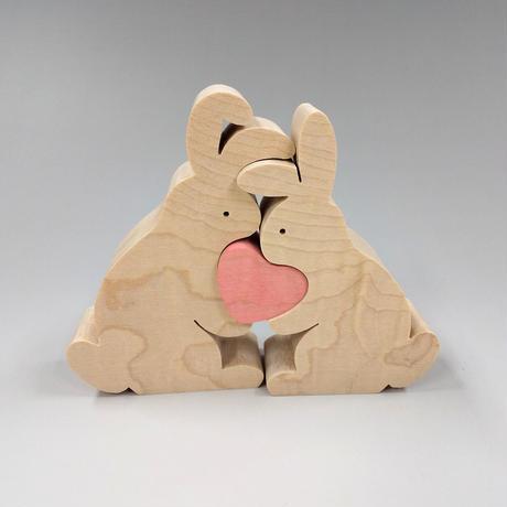 ウサギのカップルとハート・MC(21031206)