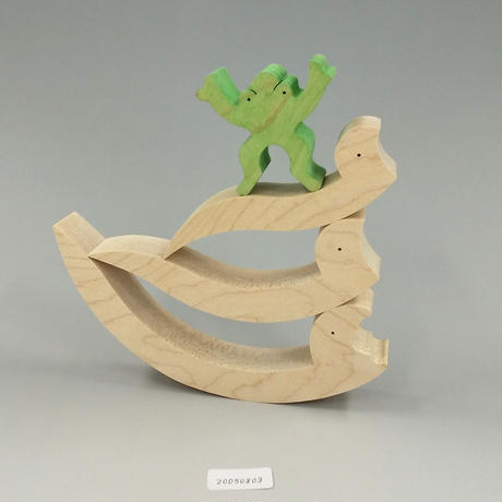 3匹のヘビとカエル(20050803)