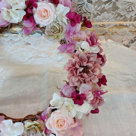 """【Pre Order】cocorohana Flower Wreath """"Lovely Rose"""""""