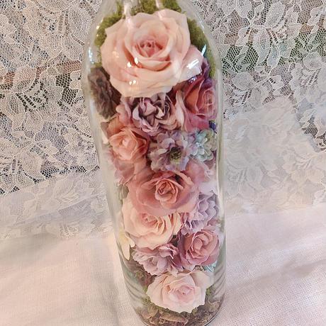Antique bottle flower pink