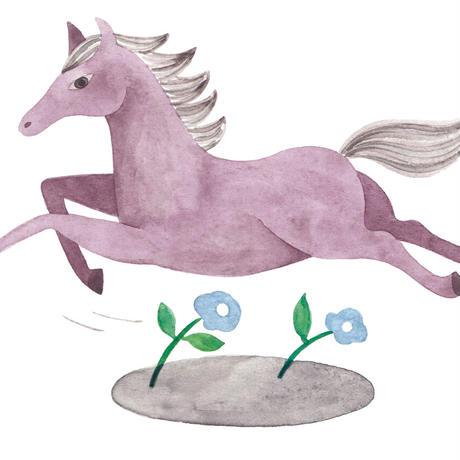 水沢そら「馬の景 風の景 挿絵5」