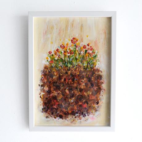 杉山巧 作品「土と花」