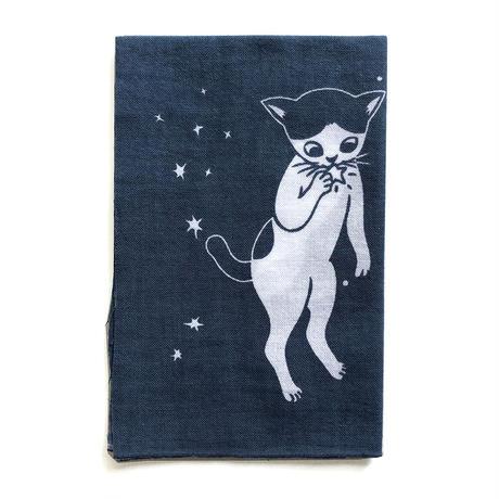 片岡まみこ「宇宙猫」手ぬぐい