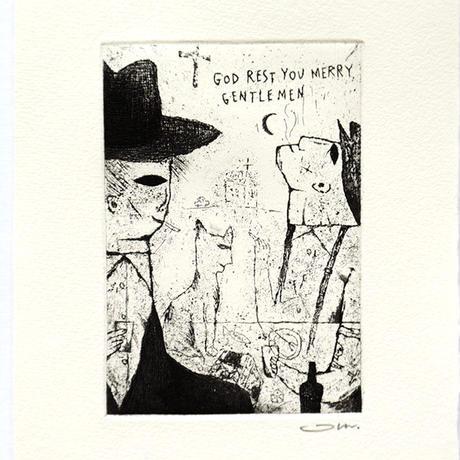 タダジュン「GOD REST YOU MERRY GENTLEMEN」銅版画*シート