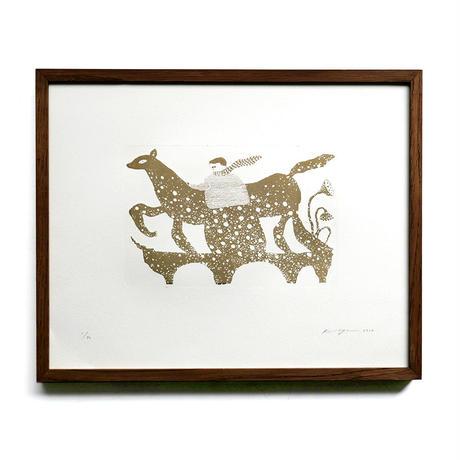 さかたきよこ 銅版画「白いとき」