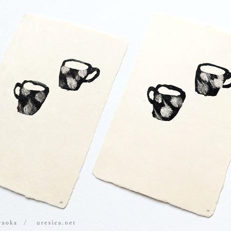 平岡瞳 木版画ポストカード1