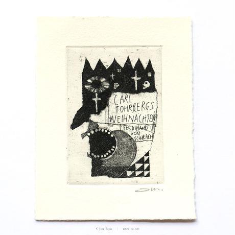 タダジュン「カールの降誕祭」銅版画*シート