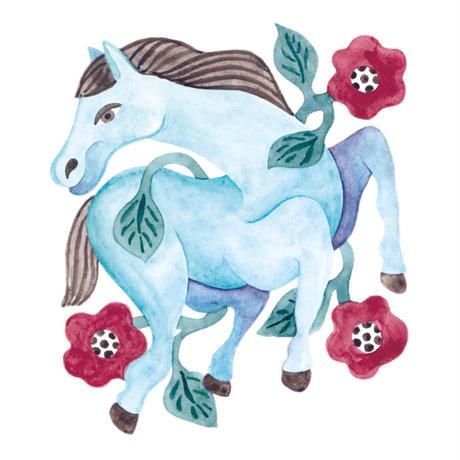 水沢そら「馬の景 風の景 挿絵6」