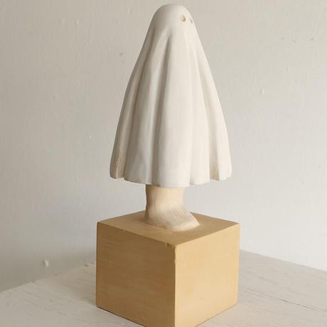 伊津野果地 木彫作品 「Me and My Ghost」