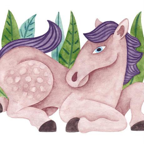 水沢そら「馬の景 風の景 挿絵3」