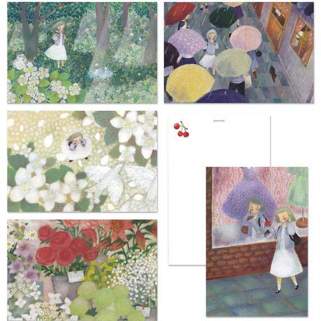 松村真依子「ものがたりを さがして」ポストカード