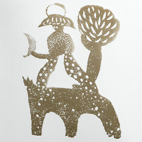 さかたきよこ 銅版画「冬のブリッジ」