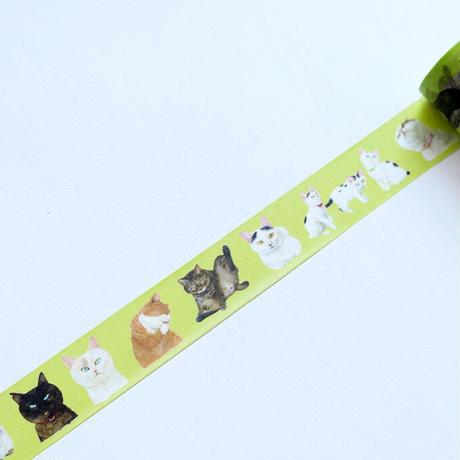 町田尚子「ねことねこ」マスキングテープ