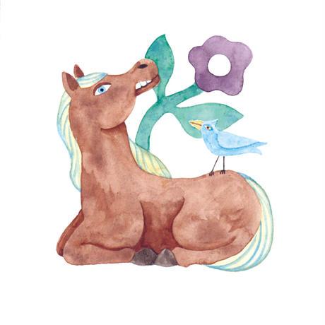 水沢そら「馬の景 風の景 挿絵4」