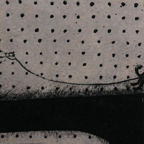 さかたきよこ 銅版画「冬のこだま」