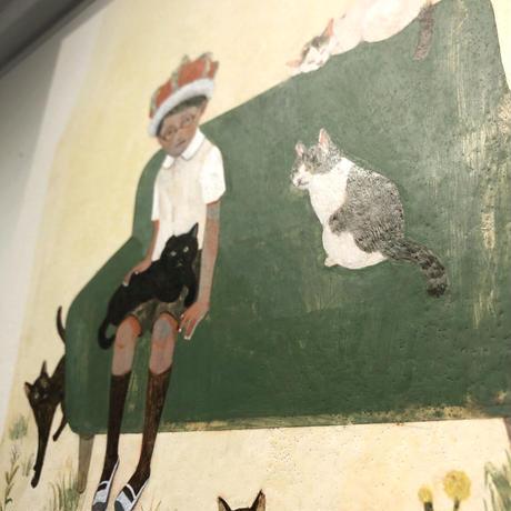 樋口佳絵「猫たちの庭」