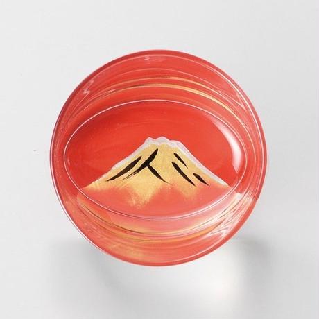 赤富士 オールドグラス(朱)