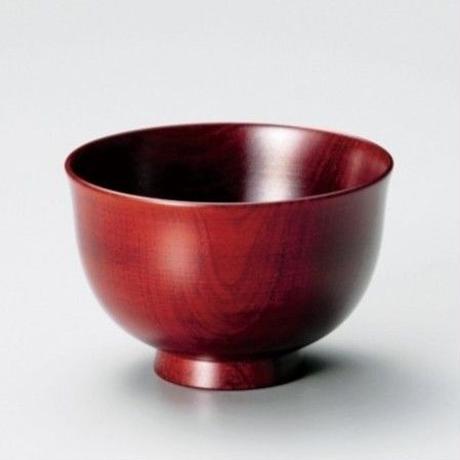さくら材・汁椀(摺漆赤)
