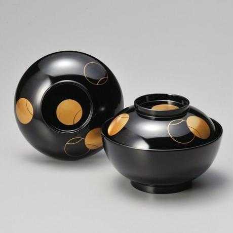 つぼつぼ 煮物椀(黒)