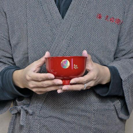 てまり 汁椀ペア (溜・朱)