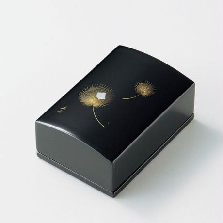 沈金飛花 名刺箱(黒)