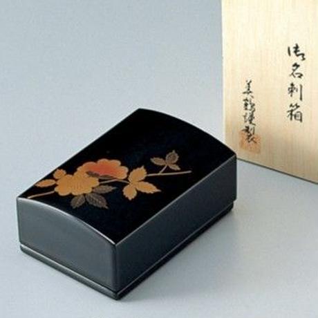 山茶花 名刺箱(黒)