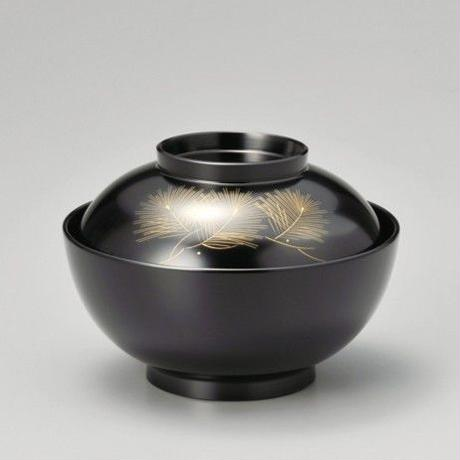 沈金松 雑煮椀(黒)