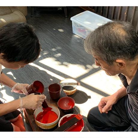 上塗り体験(オリジナルお椀 カップ)