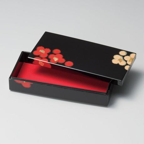うるし華 長手箱(黒)