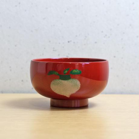 野菜うるし絵 汁椀(溜・朱)5種類セット