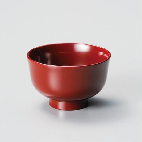 食洗機対応京型汁椀(古代朱)