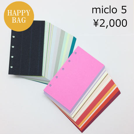 マイクロ5穴 カラフルなシステム手帳リフィル150g