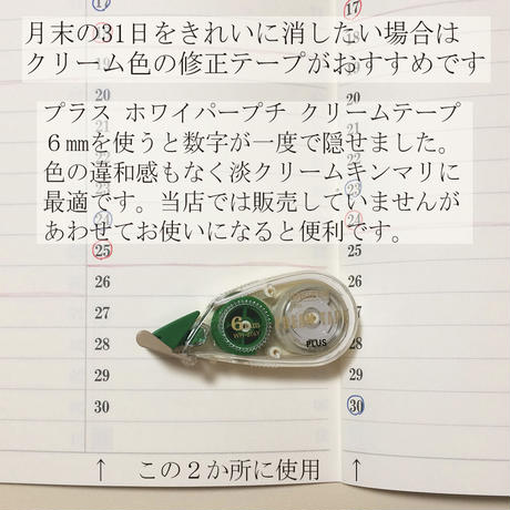 5年ひとこと日記リーフ A3サイズ5枚 660円