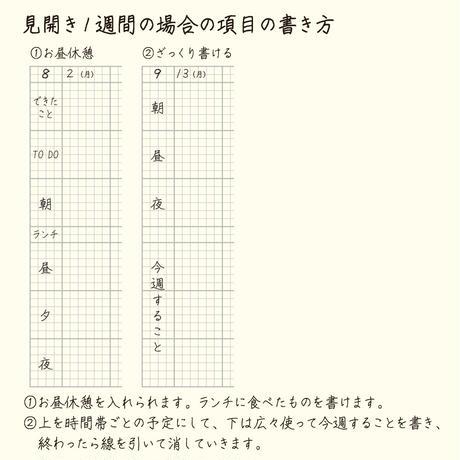 【お徳用】大人の時間割帳(日付なし・見開き2週間)2冊セット