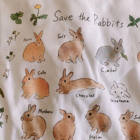 schinako x SAVE THE RABBITS サイズが選べるTシャツ