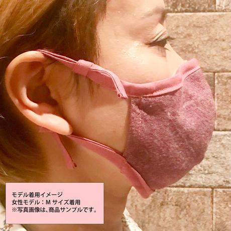 前島応援マスク(デニムストライプ黒地)