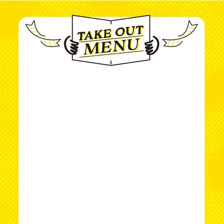 コロナ対策:飲食店応援ツール(無料) テイクアウトメニュー(um1)
