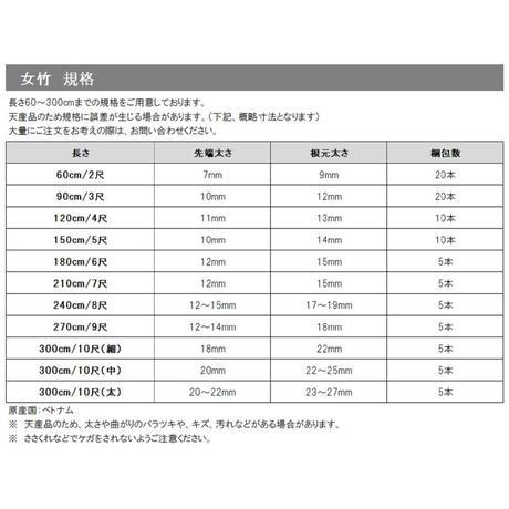 天然竹 女竹 300cm(細)5本