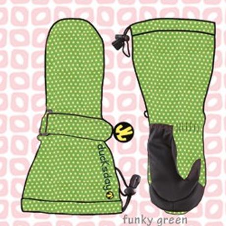 ducksday Mittens Funky green ( S / M / L )