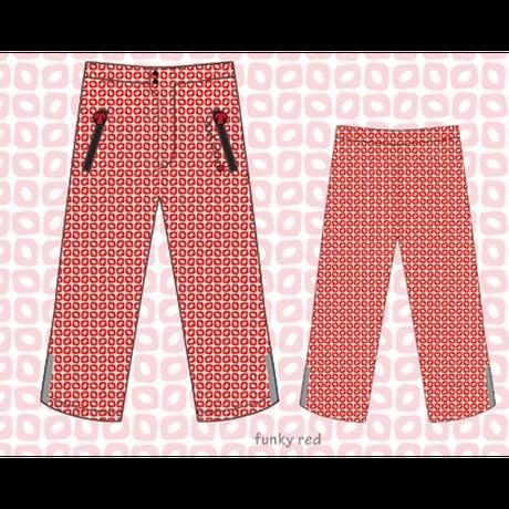 ducksday Rain pants Funky red ( 8y / 10y / 12y )