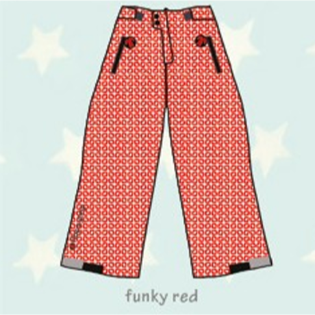 ducksday Lined winter pants Funky red ( 8y / 10y / 12y )