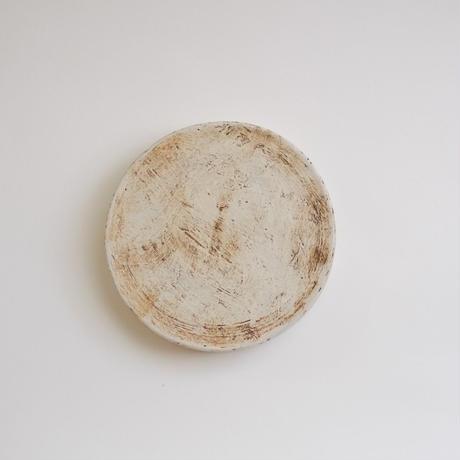 白化粧高台皿リバーシブル5寸