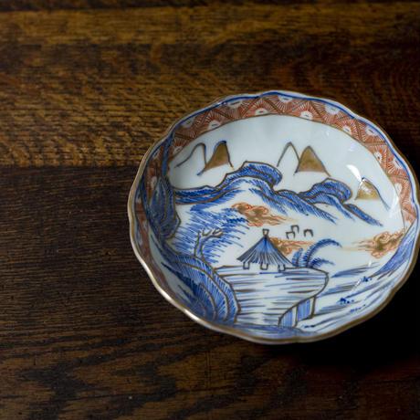 【古道具/小皿】 SAMPLE_絵付け・縁金彩の皿 取り皿