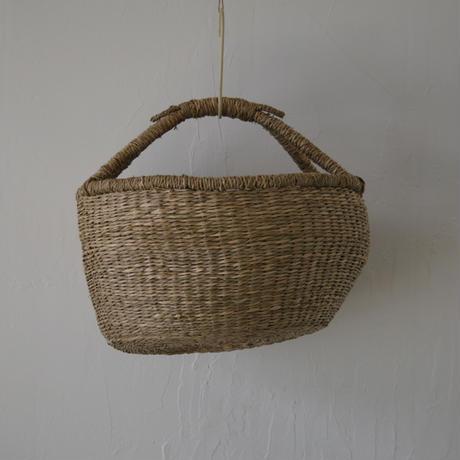 ベトナムのまるっこい手づくりかご handmade シーグラス ラウンド バスケットA Lサイズ AL-4